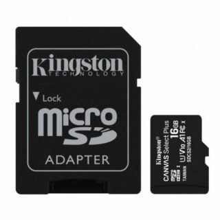 Memoria Micro SDHC 100R A1 CL10 Kingston 16 GB (SDCS216GB) | Hoolboox Hardware & Software