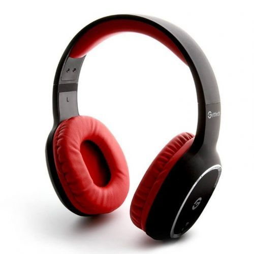 Diadema Getttech GH-4640R BT 3.0 Stereo c/mic Negro/Rojo