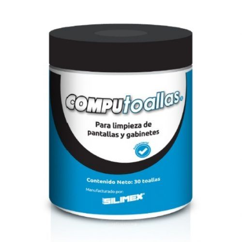 Silimex CompuToallas para Limpieza de Pantallas y Gabinetes 30 Piezas