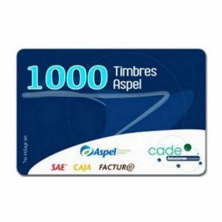 Timbres Aspel para Sellado CFDI 1000 Timbres (FACTE1000) | Hoolboox Hardware & Software