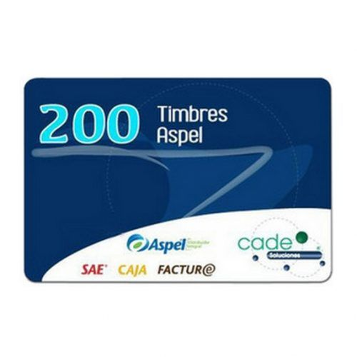 Timbres Aspel para Sellado CFDI 200 Timbres (FACTE/200)